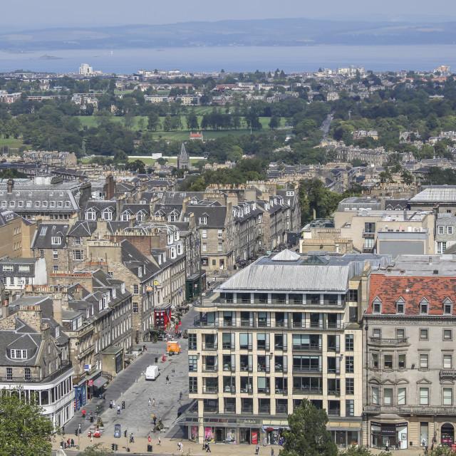 """""""Panorama Edinburgh"""" stock image"""