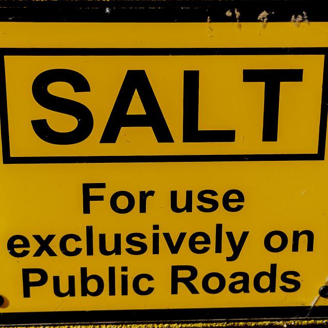 """""""Salt Bin"""" stock image"""