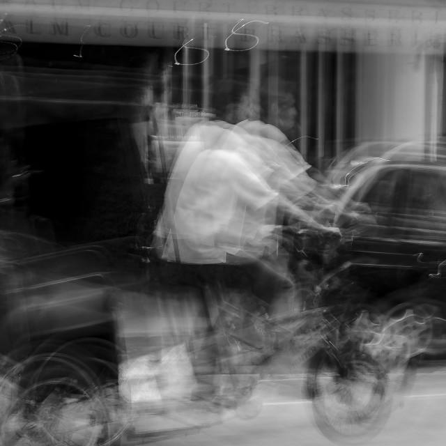 """""""Bicycle Rickshaw"""" stock image"""