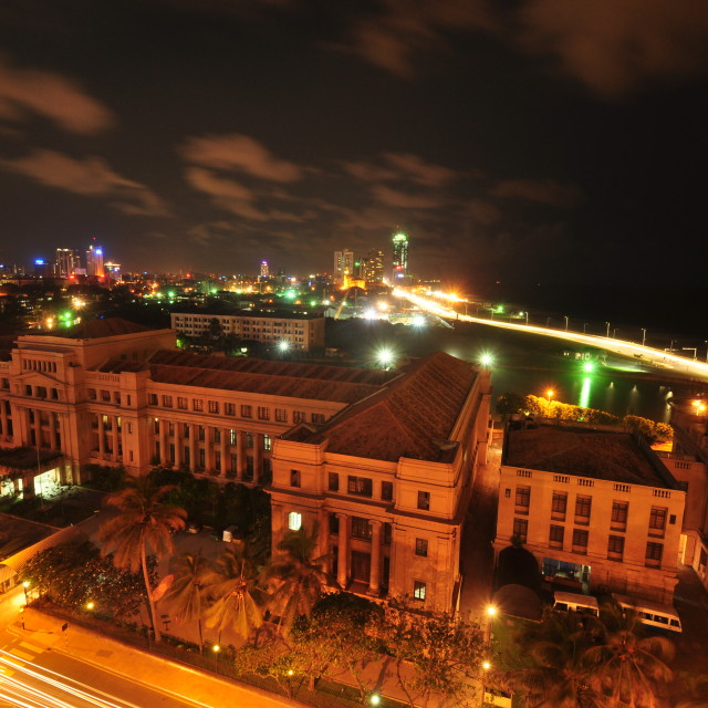 """Colombo at Night"" stock image"