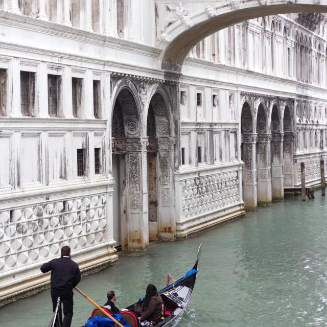 """Bridge of Sighs, Venice"" stock image"