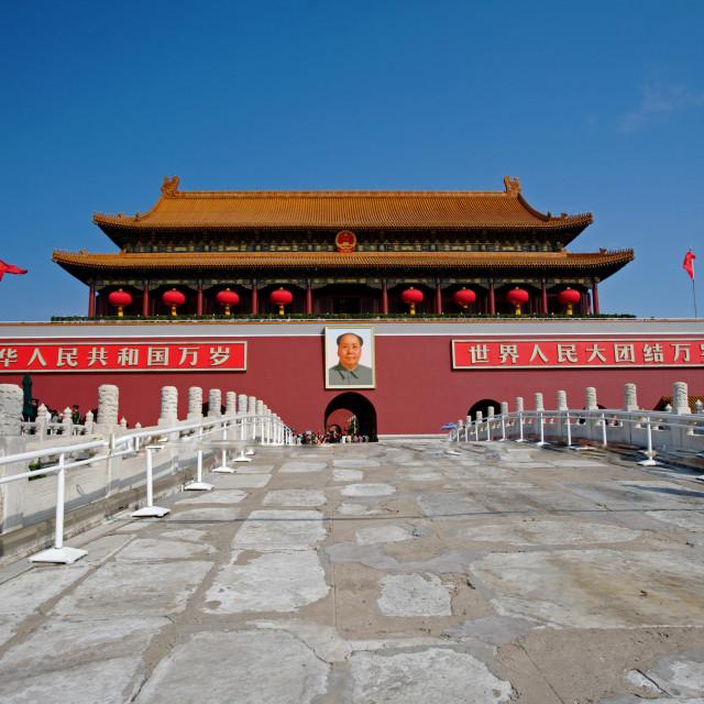 """Tiananmen Square, The Chairman Mao Memorial"" stock image"