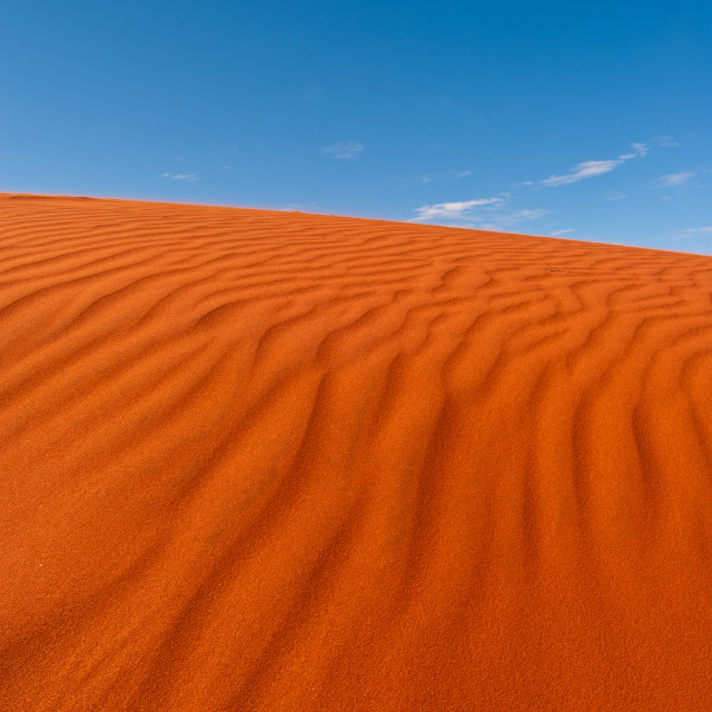 """Red sand, blue sky"" stock image"