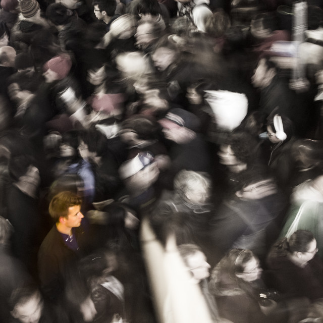 """That Guy in the Crowd!"" stock image"