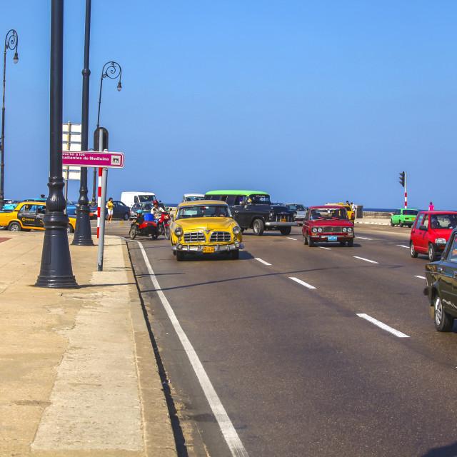 """""""Traffic in Havana"""" stock image"""