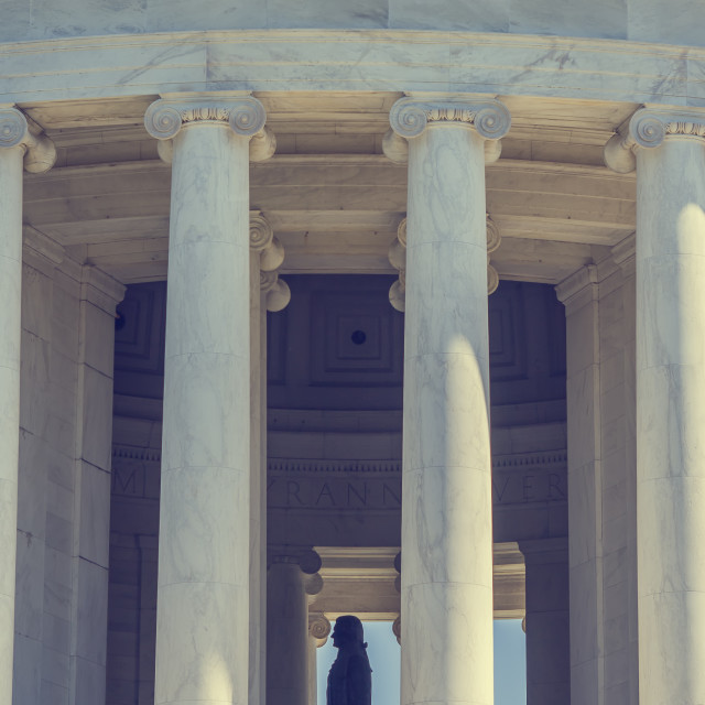 """Thomas Jefferson memorial"" stock image"