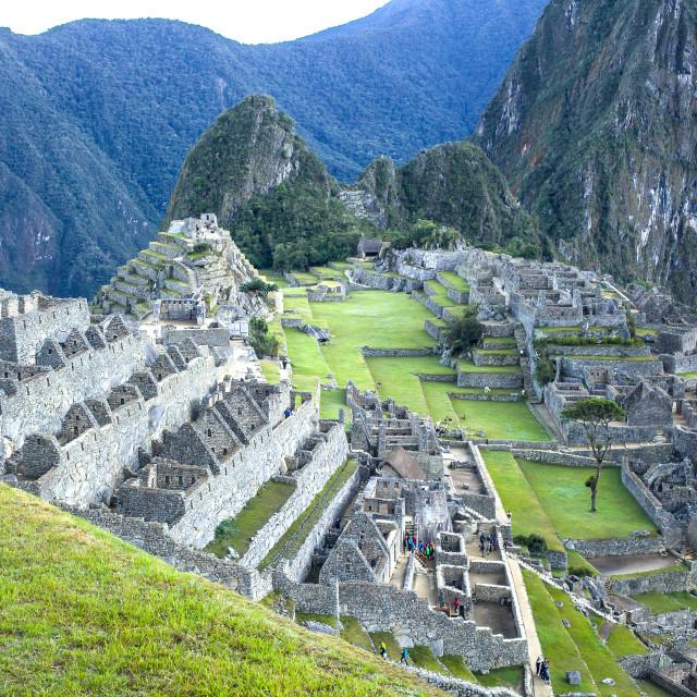 """Machu Picchu at dawn"" stock image"