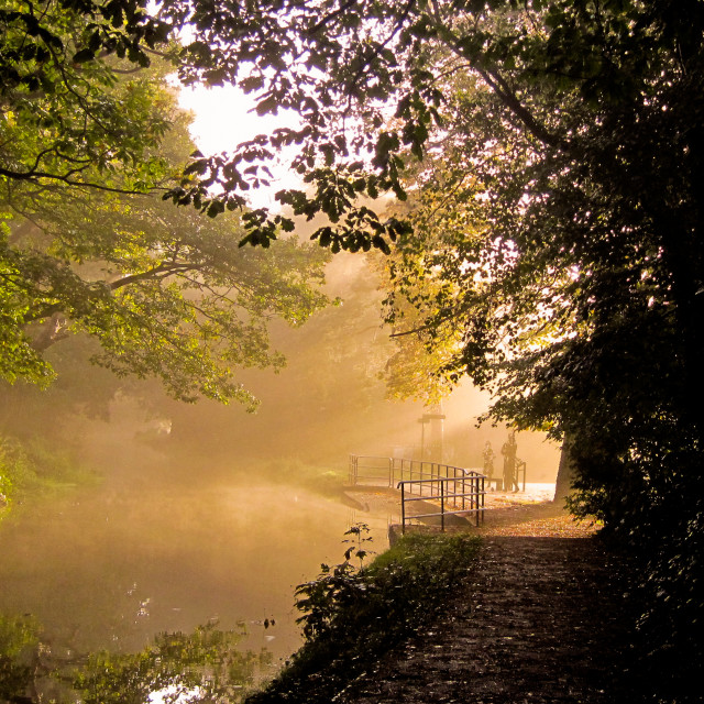 """""""Autumn canal"""" stock image"""