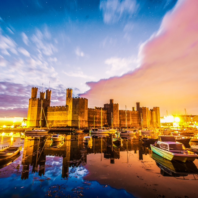 """Royal Caernarfon Castle"" stock image"