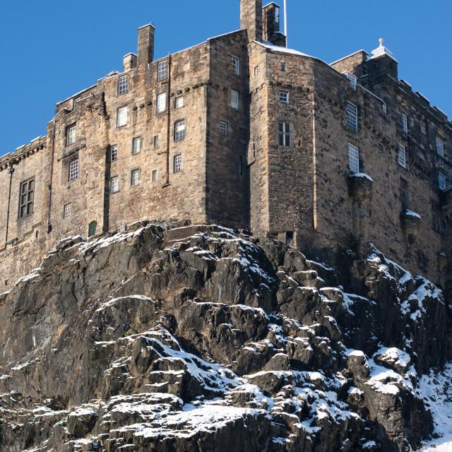 """Edinburgh Castle, winter"" stock image"