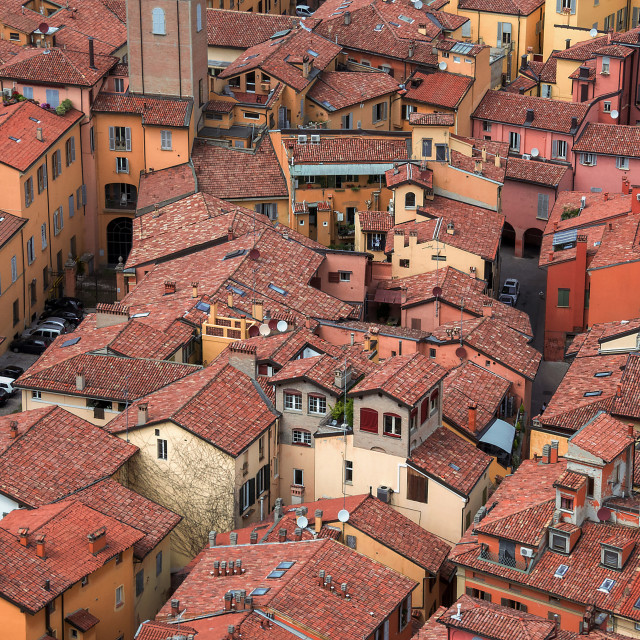 """red roofs"" stock image"