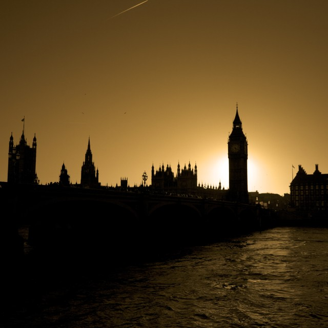 """Parliament Silhouette"" stock image"