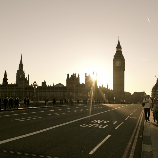 """Sunset Parliament"" stock image"