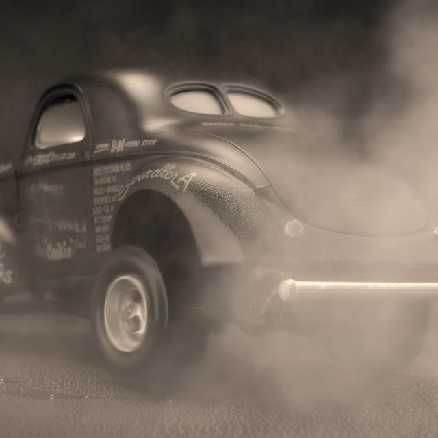 """Old School Drag Racing."" stock image"