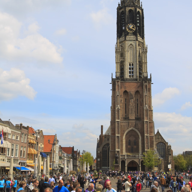 """Competitors gathering in Delft"" stock image"