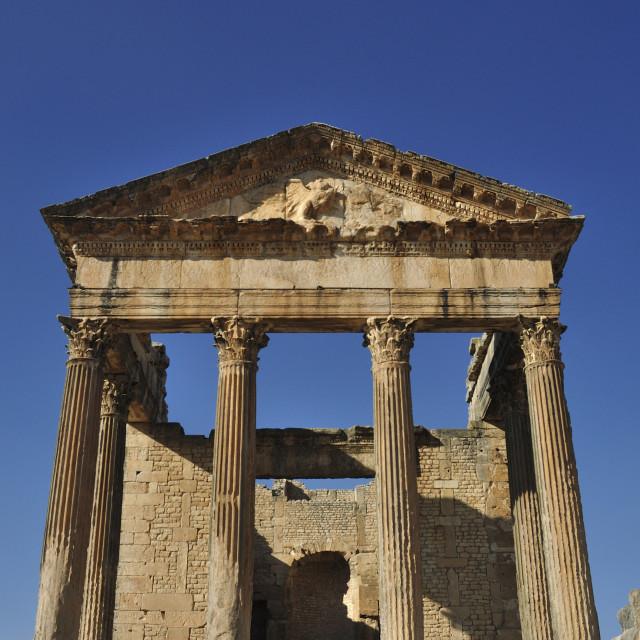 """""""The Capitole Dougga Tunisia"""" stock image"""