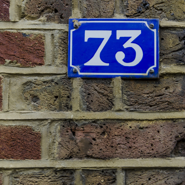 """""""Number 73"""" stock image"""