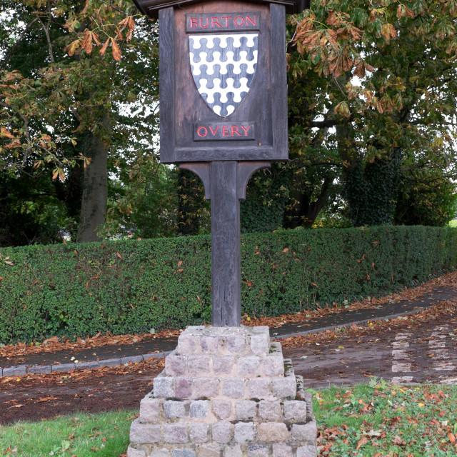 """Burton Overy ,Leicestershire ."" stock image"