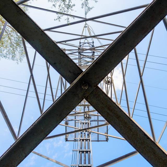 """Electricity Pylon"" stock image"