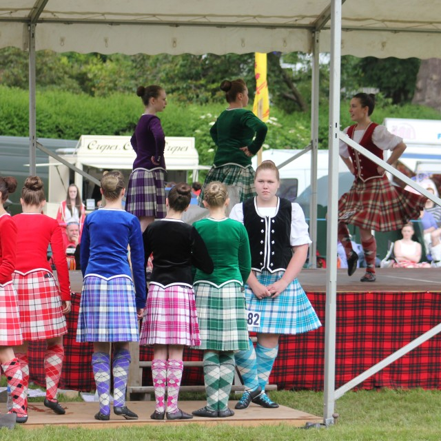 """Highland Lassies"" stock image"