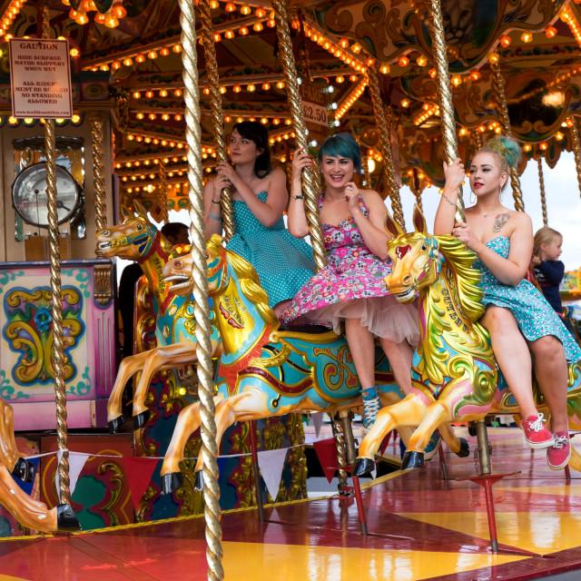 """Carousel ride Funfair ."" stock image"