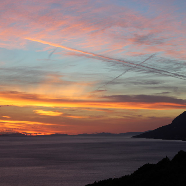 """Croatian Sunset"" stock image"