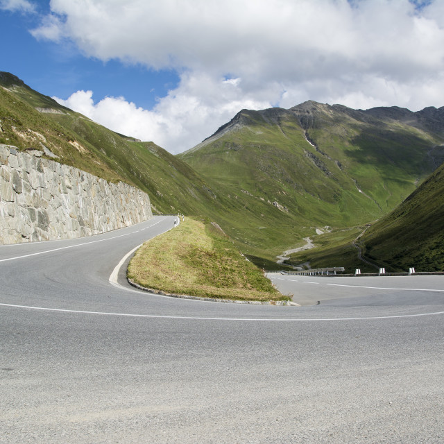 """Alpine Road"" stock image"