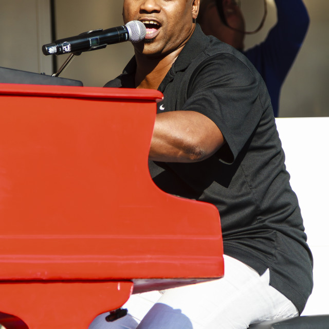 """Stevie J. on stage"" stock image"