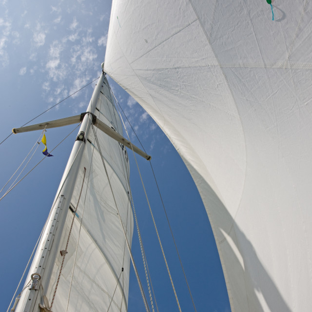 """Yacht Sails"" stock image"