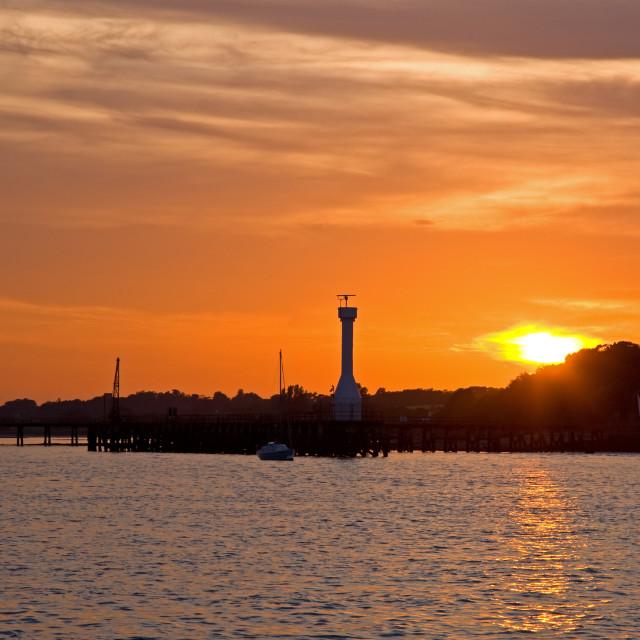 """""""Shotley Sunset"""" stock image"""