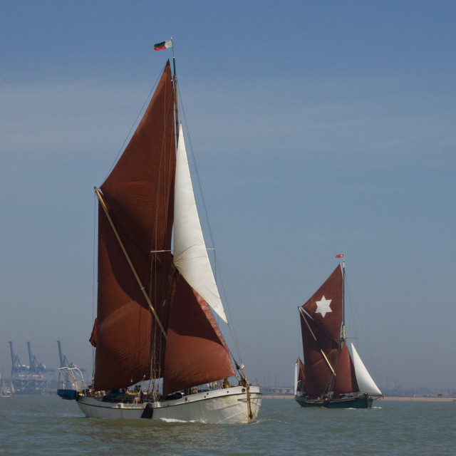 """Thames Spritsail Barges"" stock image"
