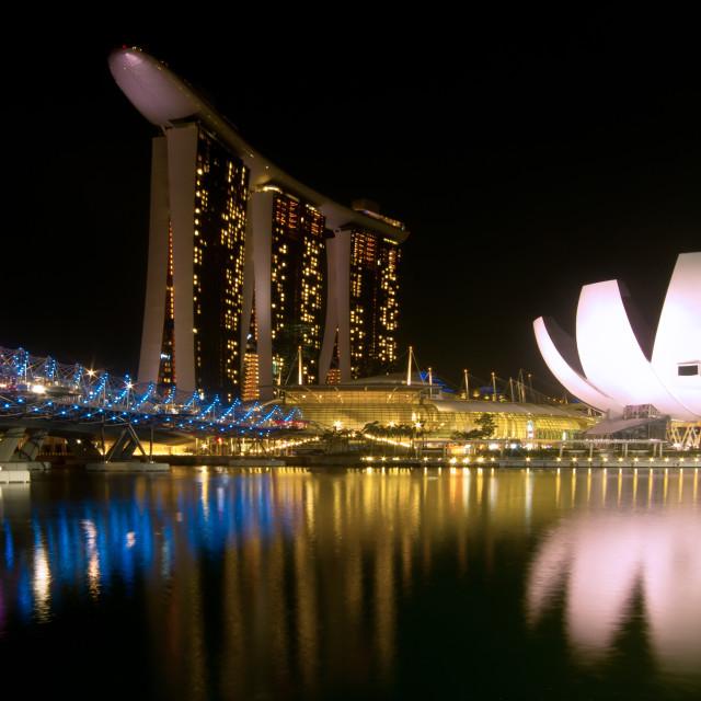 """Marina Bay Sands Hotel & ArtScience Museum"" stock image"