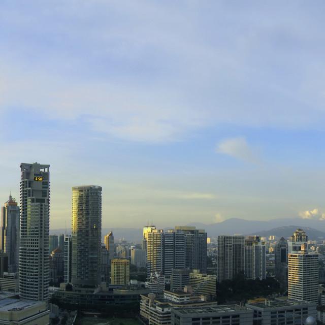 """Kuala Lumpur City Skyline"" stock image"