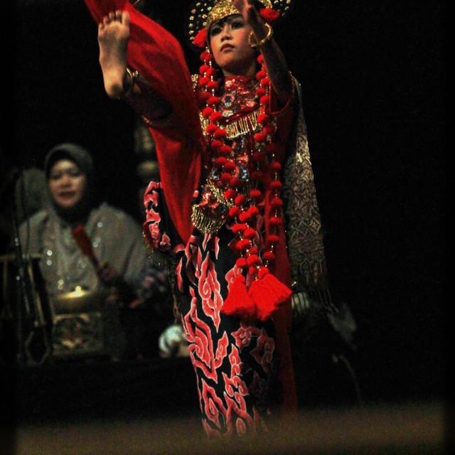 """""""dancer in rampak losari"""" stock image"""