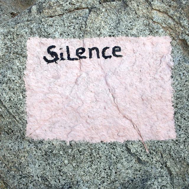 """Silence"" stock image"