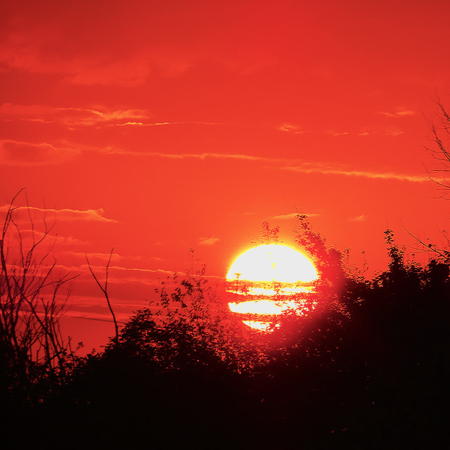 """Red Sunrise"" stock image"