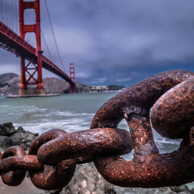 """""""Golden Gate Unchained"""" stock image"""