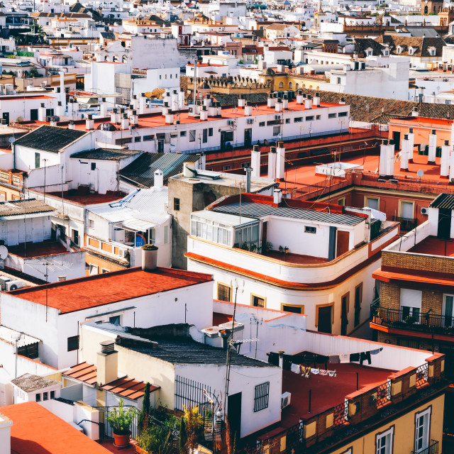 """Seville rooftops"" stock image"