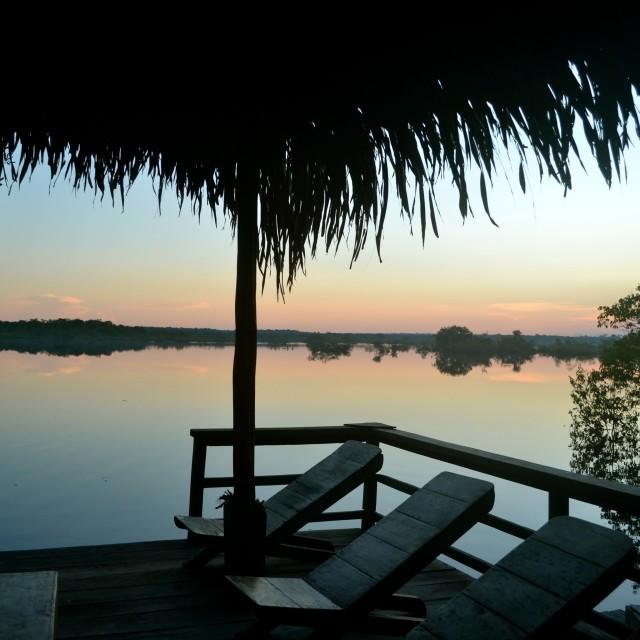 """""""Sunset Paradise"""" stock image"""