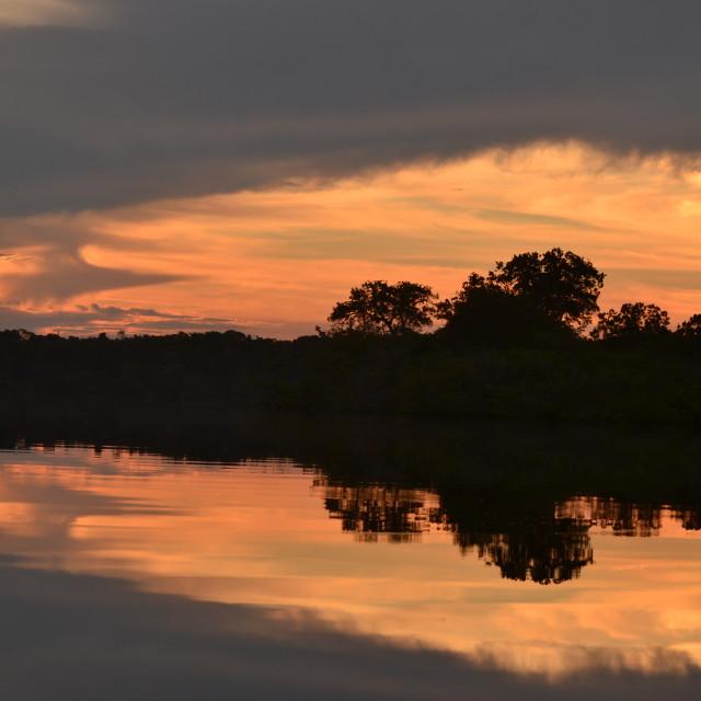 """""""Sunset reflection"""" stock image"""