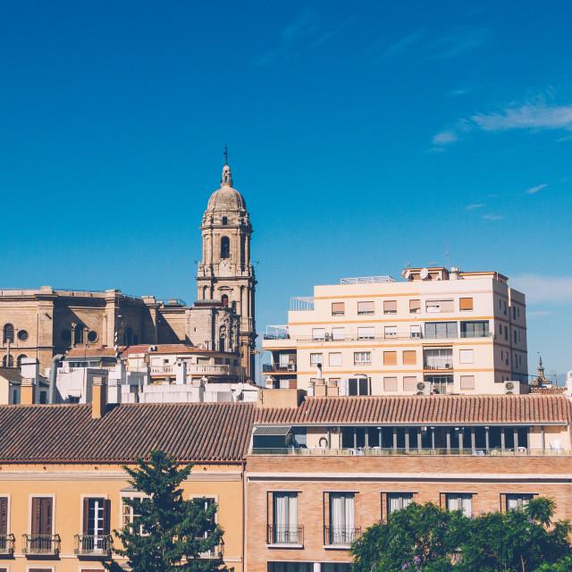 """Malaga cityscape"" stock image"