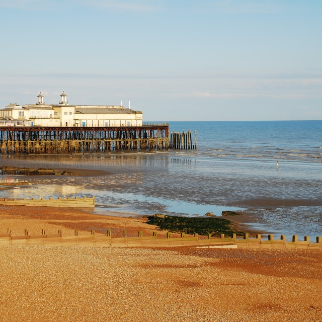 """Hastings Pier, England"" stock image"