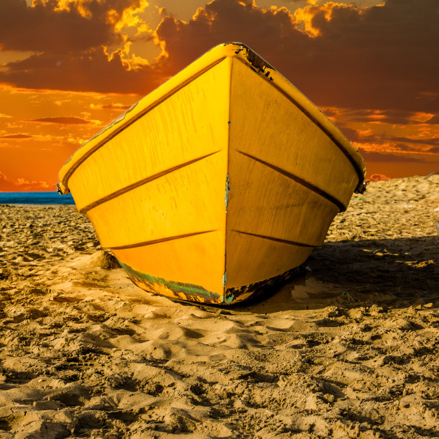 """Old Dory Boat"" stock image"