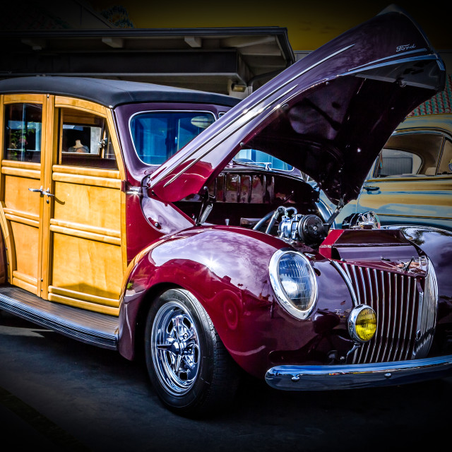 """1940 Ford Woody"" stock image"
