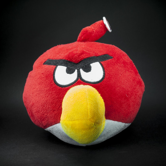 """Light Painted Angry Bird"" stock image"