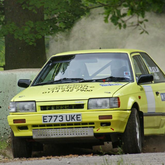 """Mazda 323 4x4 Rally Car"" stock image"