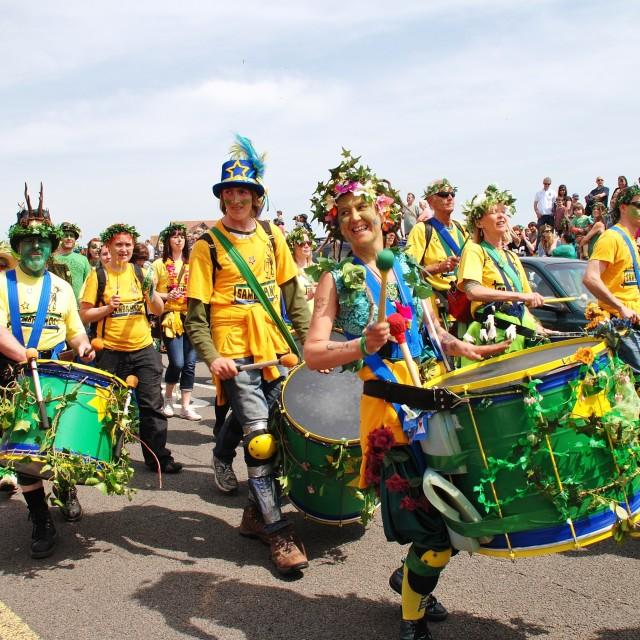 """Sambalanco samba band, Hastings"" stock image"