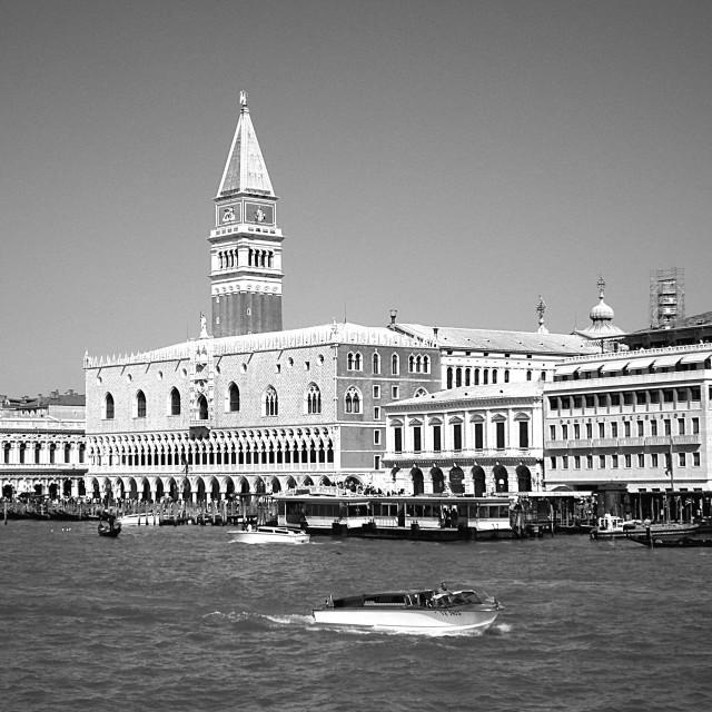 """Approaching Venice."" stock image"