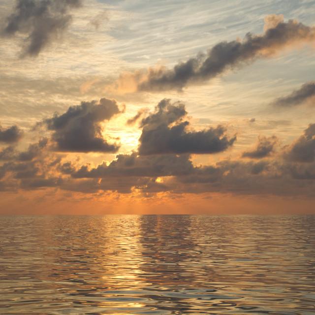 """""""Maratua Sunrise"""" stock image"""