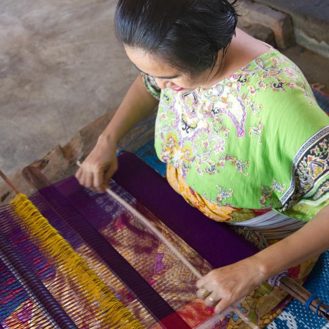 """Weaver, Lombok"" stock image"